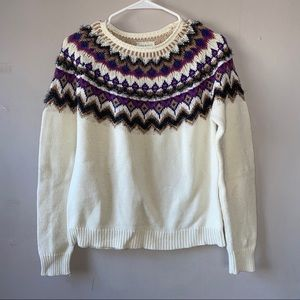 VNTG Lucky Brand detail knit sweater size small